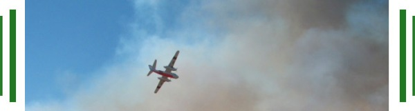 Plane, Flames, Smoke, Ramona, California